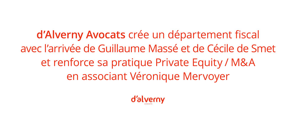 Département fiscal / Private Equity / M&A