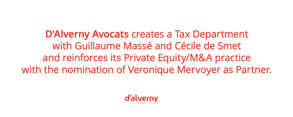 Tax Department / Private Equity / M&A